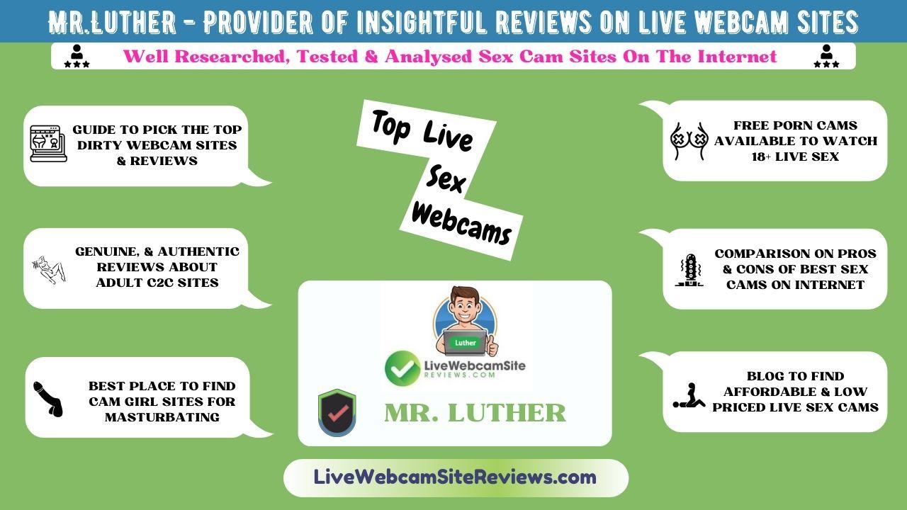 Live webcam reviews infographic